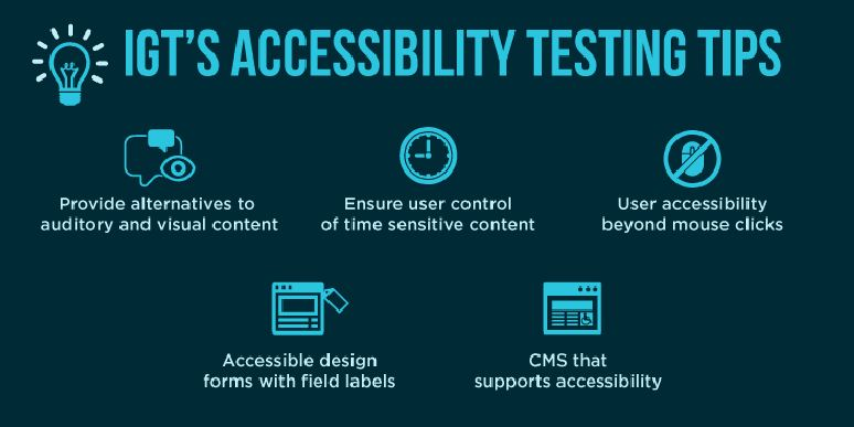 Accessibility testing tips