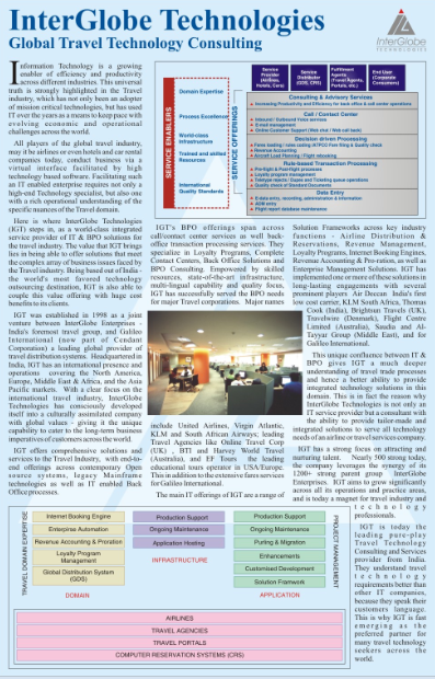 InterGlobe Technologies (IGT) Global Travel Technology Consulting, Express Travel & Tourism, March 2005